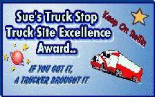 Sue's Truck Stop Award